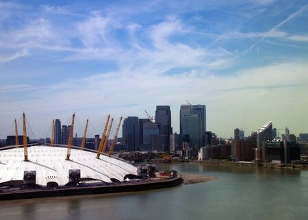 o2: London Skyline from Emirates Air Line cable car  Editorial