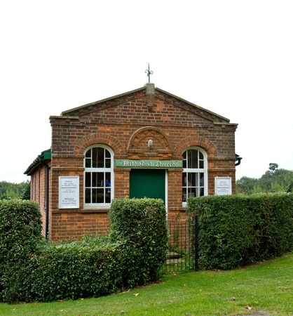 methodist: Village Church Stock Photo