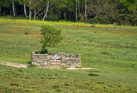 enclosure: Memorial enclosure for the Airmans Grave on Ashdown Forest, site of WW2 aircraft crash