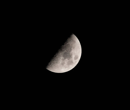 waxing gibbous: Waxing Gibbous Moon, Northern Hemisphere. Over Hove, East Sussex  Stock Photo