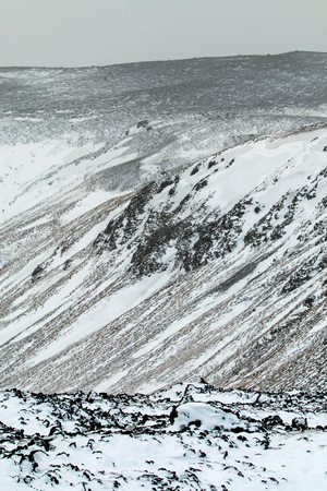 lava field: Volcanic and lava field terrain around Grindavik in south west Iceland.