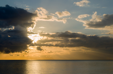 brighton: Afternoon winter sun with dramatic cloudy sky over English Channel