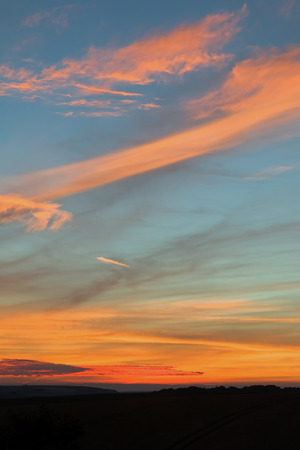 Portrait image of sunset sky in East Sussex.