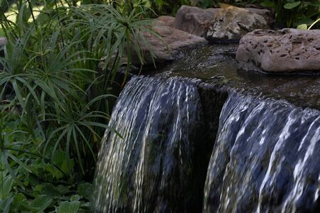 waterfalls, garden arrangement, waterfalls in the garden Reklamní fotografie
