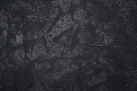 Abstract black background grunge texture and dark grey charcoal color paint. Banque d'images