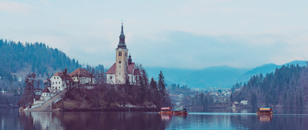 Lake Bled with St. Marys Church