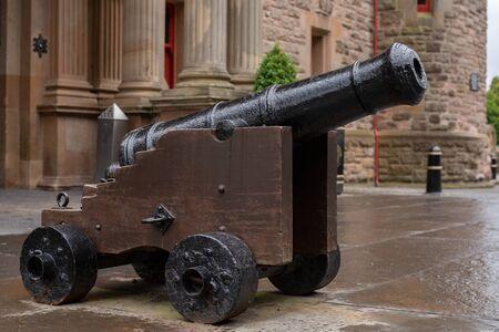 Gun at the Belfast Castle, Northern Ireland