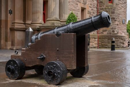 Gun at the Belfast Castle, Northern Ireland Stok Fotoğraf - 130417429