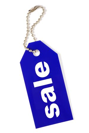 blue sale tag isolated