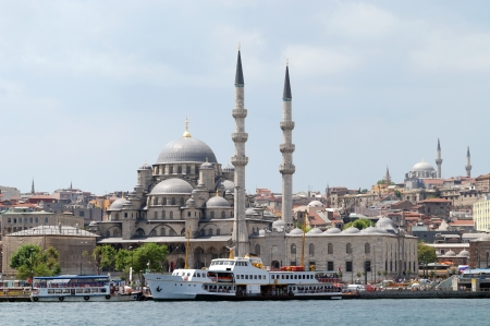 New Mosque in Istanbul Turkey Stock Photo