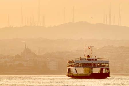 Ferry in Bosphorus Istanbul Turkey