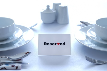 Reserved for Love Stock Photo