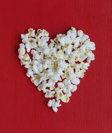 Heart shaped popcorn