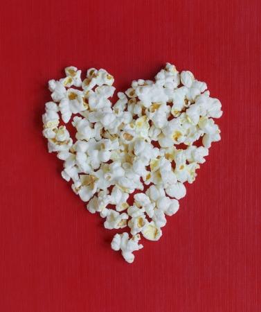 love movies: Heart shaped popcorn