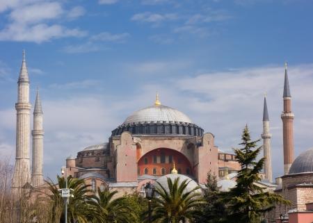 constantinople: Haghia Sophia in Istanbul Turkey Stock Photo