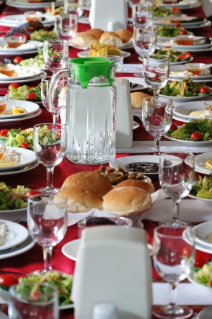 country side: Table setting in a country side restaurant in Turkey  Black sea region