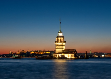 Maidens Tower in Istanbul Turkey