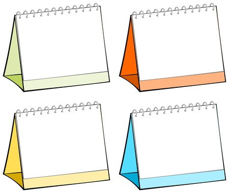 table calendar: Table calendars in four different colors