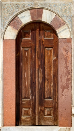 constantinople: Old Turkish Door Fountain of Sultan Ahmed III in Istanbul Turkey