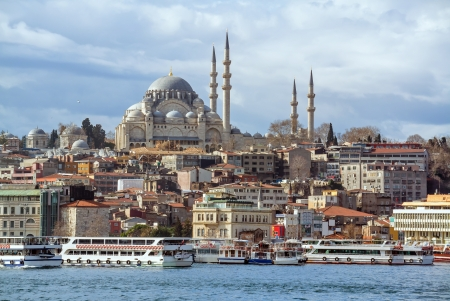 constantinople: Suleymaniye Mosque in Istanbul Turkey