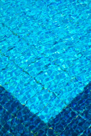 Texture of water on the surface of a swimming pool photo