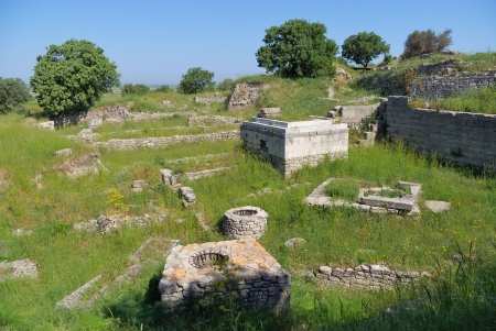 troy: Ancient troy ruins in Canakkale Turkey