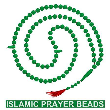 99: Illustration of islamic prayer beads with 99 pieces Illustration
