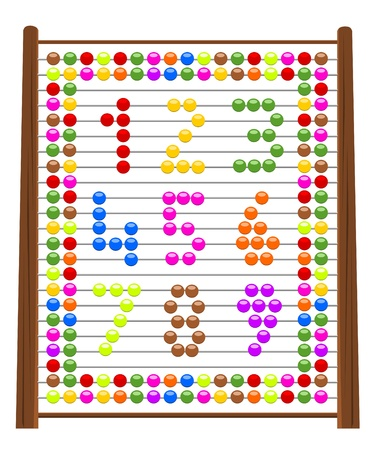 Illustration of abacus with numbers