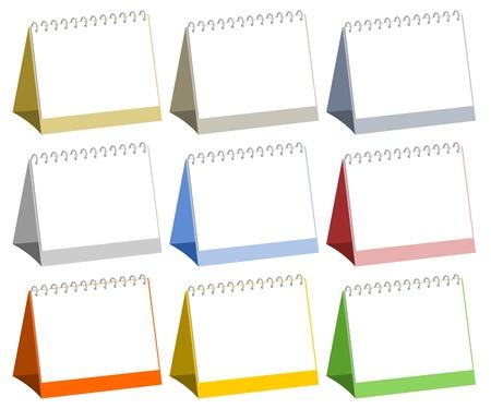 Blank table calendars