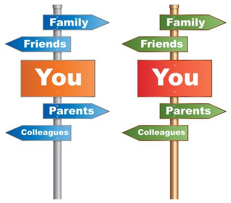 prioridades: Respect Yourself se�al que muestra que usted y las personas que te rodean