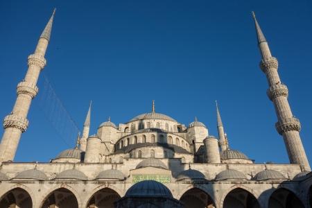 Famous landmark Blue Mosque in Istanbul Turkey