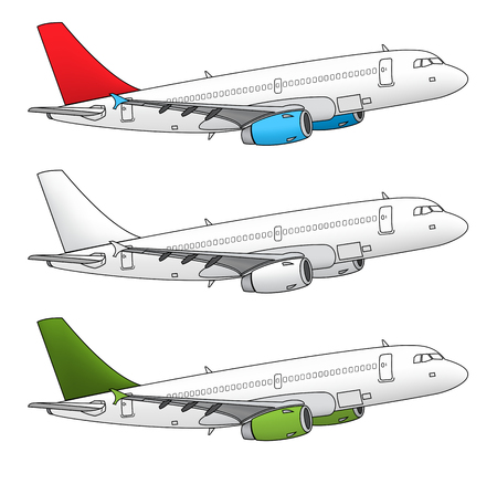 Isolated airplane vector design in different color schemes Stock Vector - 24018665