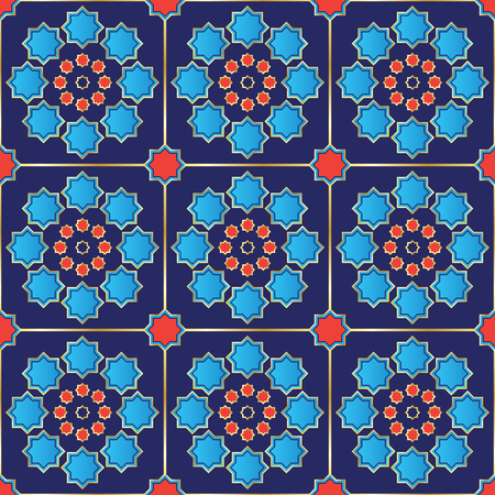 Vector Illustration of a Turkish Tile  Seamless  Genuine design  Fully editable
