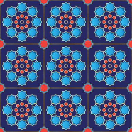 Vector Illustration of a Turkish Tile  Seamless  Genuine design  Fully editable