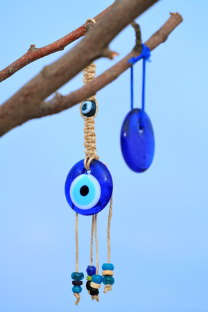 A popular souvenir from Turkey; evil eye, in Cappadocia Nevsehir Turkey