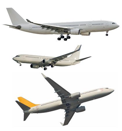 航空機: 航空機による旅客輸送のロゴから掃除し、白で隔離
