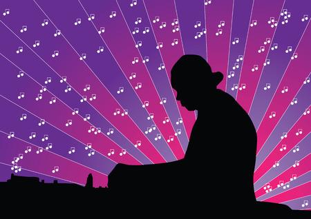 making music: DJ making Music