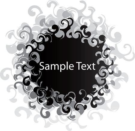 Black swirl banner Vector