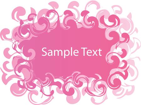 Pink swirl banner Vector