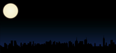 New York Skyline at night Stock Vector - 4187672