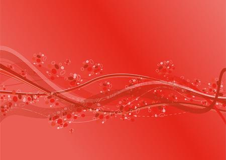 oscillation: Olas de color rojo en un color de aire
