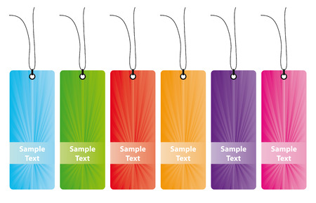 Different Labels in many colors Vector