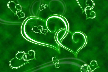 Illustrated hearts Stock Photo - 4214255