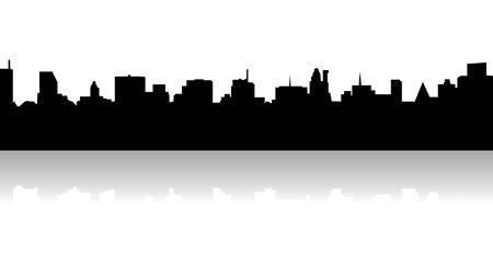 urban centers: Skyline Illustration