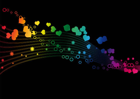 Rainbow colors in a wave - Vector image Illustration