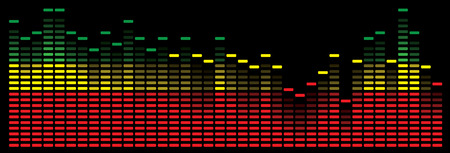 Colorful music equalizer in red  yellow and green Illustration
