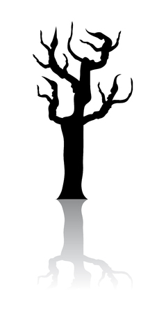 Silhouette of a tree - Vector image Vector