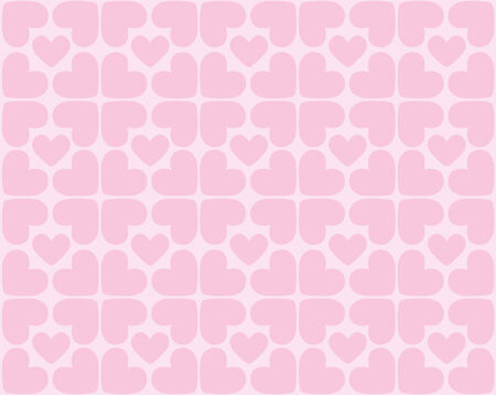 reiteration: Seamless pattern of hearts - vector image