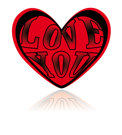 A vector heart with the love letters in it Stock Vector - 4581155