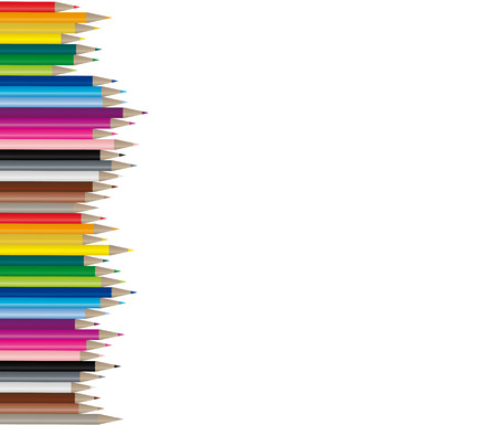 craft supplies: Color pencils in many different colors, handy to use because its a vector image!